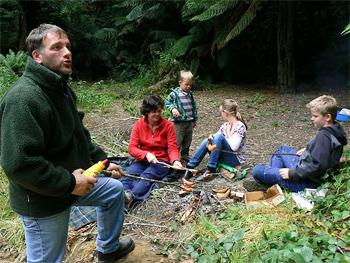 Weiner roast near the Redwoods off the Great Ocean Walk, Victoria Australia.