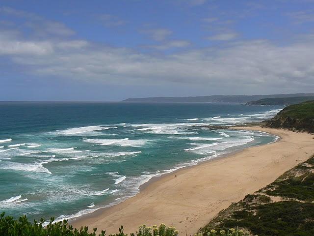 View of Blanket Bay on the Great Ocean Walk