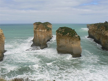 The end of Australia's Great Ocean Walk in Victoria at the 12 Apostles. Max Hartshorne photo.