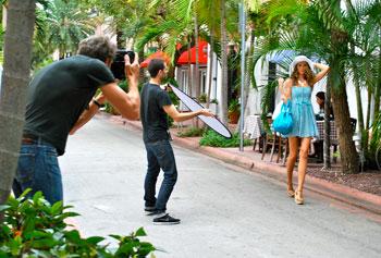 Fashion shoot on Espanola Drive