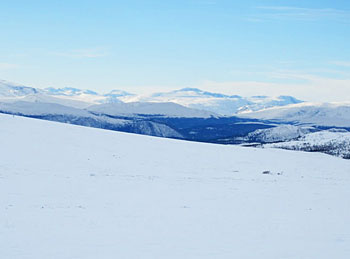 Mountain view in the Rondane National Park