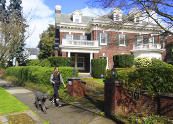 Historic houses line the streets of Northeast Portland