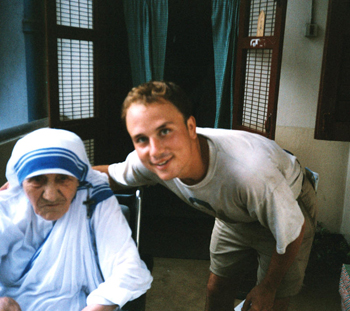 Henry with Mother Teresa.