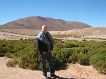 Henry Biernacki in the desert. He's traveled close to the ground to more than 120 countries.
