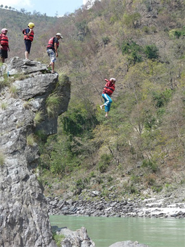 Cliff jumping. That is me!