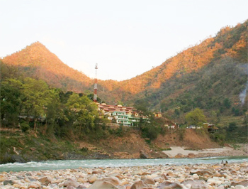 The riverside town of Kaudiyala