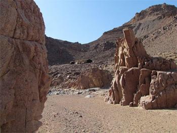 Bedouin camp in the desert of Jordan.