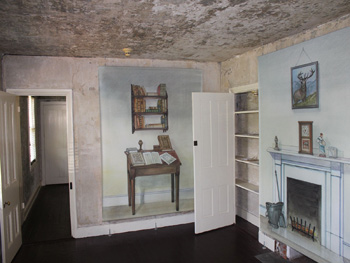 The living room of Poe's house.