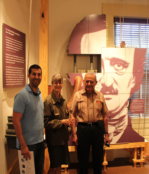 The author with the staff of the museum