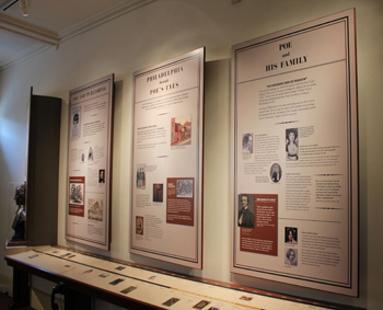 Exhibits at the Edgar Allan Poe National Historic Site