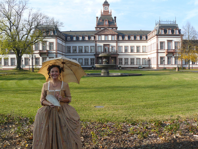 Nina Schneider portrays Rose Dorothy, second mistress of Landgrave William of Hanau, lord of Philippsruhe Castle