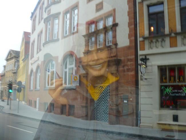 Shop window in Lutherstadt Eisleben