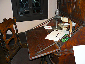 Bach's desk at the Bach Museum in Eisenach
