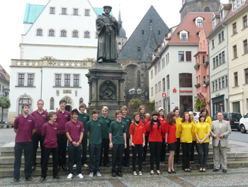 Students from a school Luther founded in 1543 that's still going strong.
