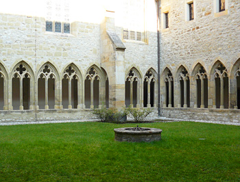 The courtyard of the Augustinian Monastery in Erfurt, where Luther lived as a monk.