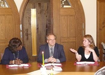 Dr. Reiner Haseloff, premier of Saxony Arnhalt with Marilyn White of Precious Times magazine and Alexandra von Ramin of TourComm Germany