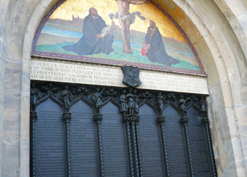 The famous door of the Castle Church in Wittenberg