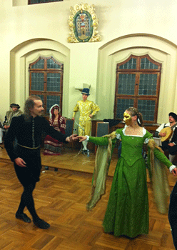 Renaissance dancing at the Town hall in Wittenburg. Photo by Kristin Ruske.