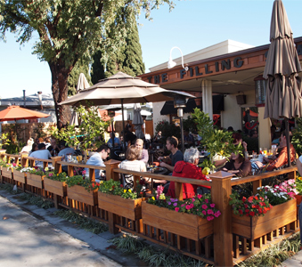 The Filling Station is one of the most popular eateries in Old Town Orange, CA.