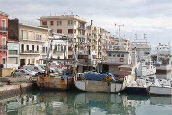 Fishing vessells in Sete, France.