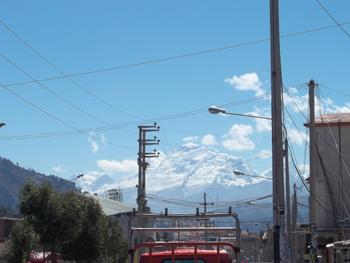 The Cordillera Blanca from the streets of Huaraz.