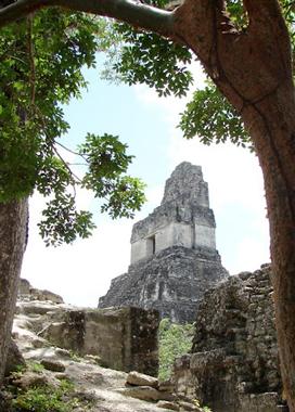 The temles at Tikal, Guatemala.