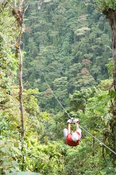 Arenal Sky Trek Zip Line in Costa Rica.