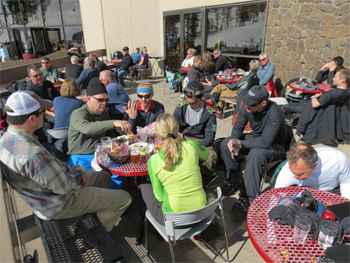 Dining at the slopes. You can save money on things like dining when you get a season pass as well as for ski tune ups and other resort services.