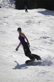 Spring skiing at Killington, Vermont.