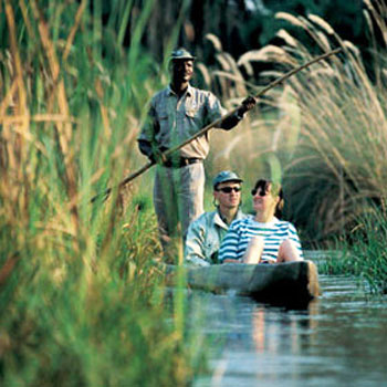 Ride in the dug out canoes or Mokoros in search of the rarest animals. (photo credit: Expert Africa)