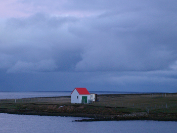 A remote house in the Falklands.