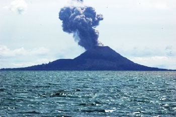 Krakatoa is the most famous volcano in Indonesia.