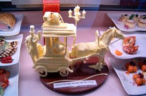 Butter sculpture at Harrods