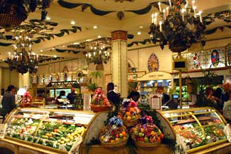 The food court at Harrods