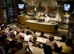 A cooking class at the CIA