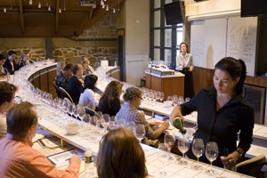 A wine class at the Greystone campus of the Culinary Institute of America in St. Helena, California