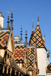 Tiled rooftops of Beaune