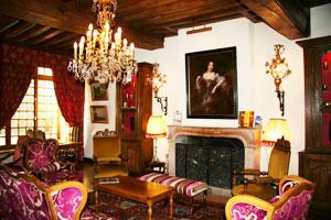 The salon of the Hotel Le Cep