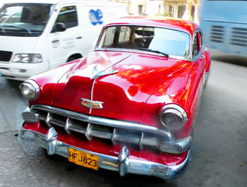 A vintage Chevrolet in Havana