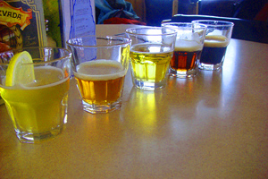 Beer Tasting in Glacier country. photos by Jackie Stevenson.