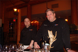 Brandt Evans and Chef Laurence. photo by Jaclyn Stevenson.