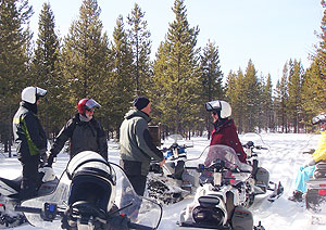 Snowmobiling on the Lewis and Clark Trail