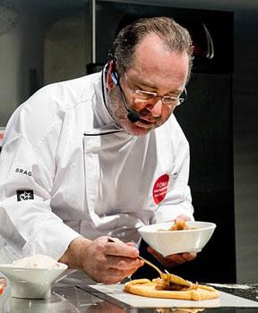 Pedro Roca, a Galician chef, prepares empanadas.