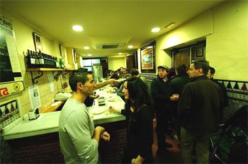 Fish bar in Granada, Spain