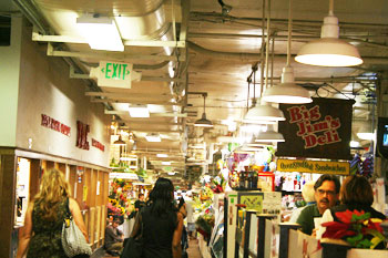 Cross Street Market is a popular spot for fresh food