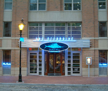 The Oceanaire Seafood Room is located in Harbor East.