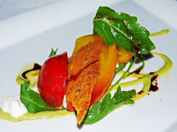 Heirloom Tomato Salad at Gracie's on Washington Street in Providence, Rhode Island