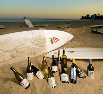 Santa Barbara wine country: waves and wine, boards and bottles.