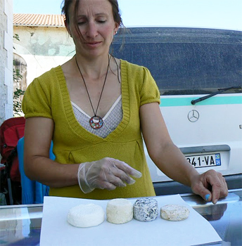 Magalie Berry, goat cheese farmer and former journalist.