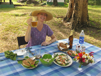 The author takes a quite picnic at Glenburn Estates in Darjeeling.